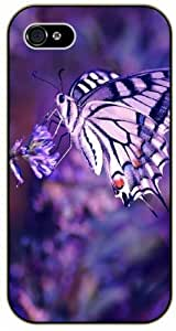 Purple butterfly - For Samsung Galaxy S3 I9300 Case Cover black plastic case / Flowers and Nature, floral, flower