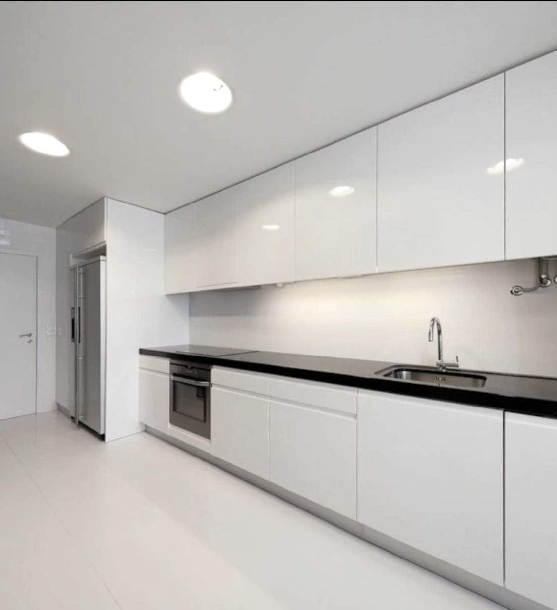 White Gloss Kitchen Cabinets Design Modern Gloss White Kitchen cabinets     Amazon.com