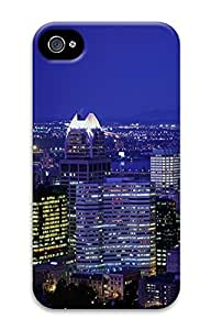 iPhone 4 4S Case City Lights Of Montreal 3D Custom iPhone 4 4S Case Cover