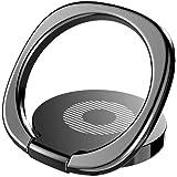Phone Ring スマホ リング ホールドリング 薄型 スタンド機能 落下防止 車載ホルダー 360回転 iPhone/Android各種他対応 (ブラック)
