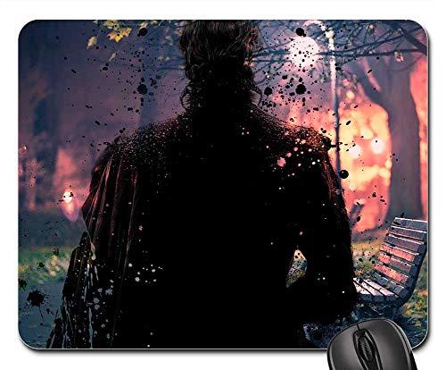 Mouse Pads - Dark Man Black Wallpaper Light Night Walk Hd ()