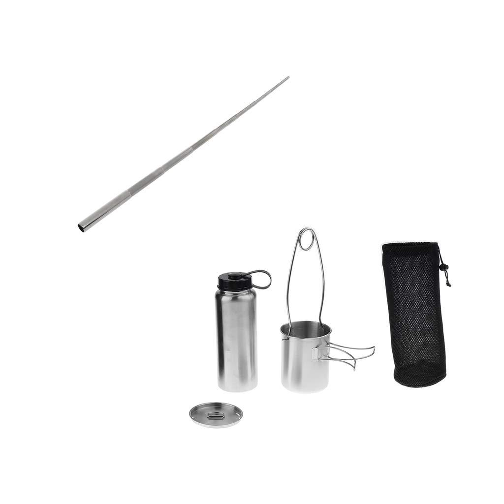 Baosity Water Bottle Cup Pot Kettle Mouth Spreader Hanger + Pocket Bellow