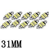 31mm 6000K Pure White Bright Interior Car Lights Error Free CANBUS 3175 Festoon Dome Lights De3021 De3175 LED Bulbs