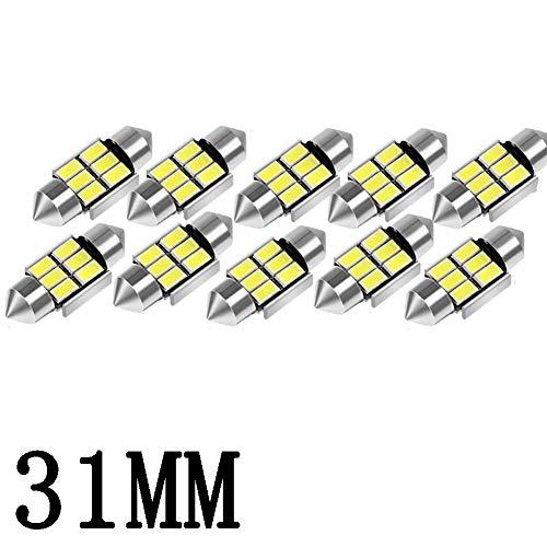 - 31mm 6000K Pure White Bright Interior Car Lights Error Free CANBUS 3175 Festoon Dome Lights De3021 De3175 LED Bulbs