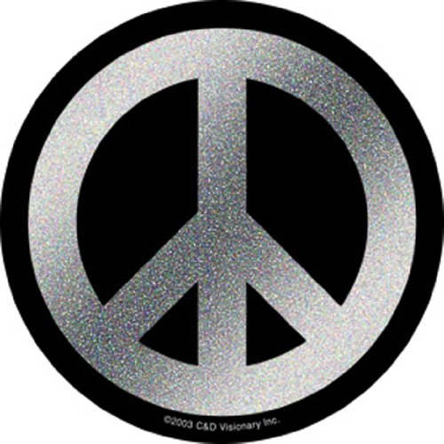 Licenses Products Generic Peace Glitter Sticker