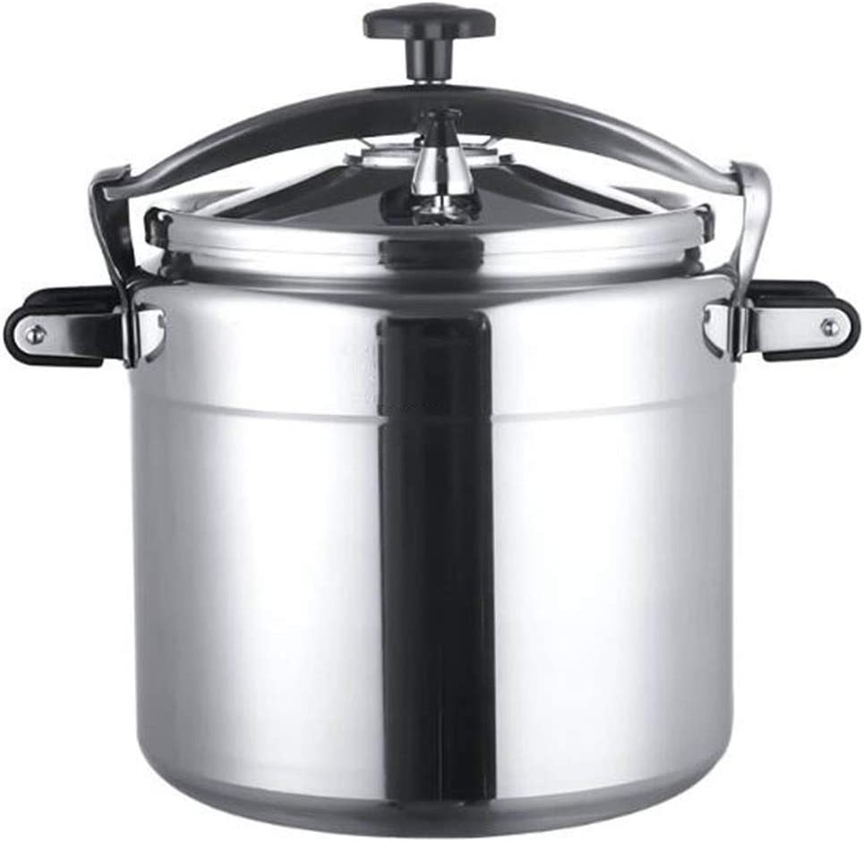 Commercial pressure cooker large capacity 50L household slow cooker steam oven suitable for commercial home restaurant restaurant hotel kitchen etc (Color : Silver, Size : 50L)