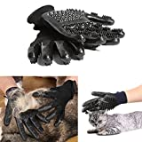 Original Dream Pet Grooming Glove Cats, Dogs & Horses,Shedding Mitts, Hair Removal Mitt, Bathing Brushes, Combing Massage Gloves - One Pair [2018 Upgraded]