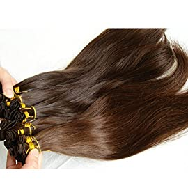 Chuangyimei Brazilian Virgin Hand Tied Hair Bundles Natural Straight Hand Tied Hair Weaving Extensions Human Hair Hand Made Weft Hair