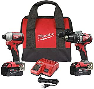 MILWAUKEE 2893-22 Cordless Combination Kit,18.0V,2 Tools