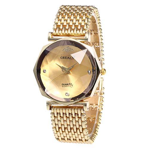 Women's Geneva Watch, Unique Analog Fashion Ladies Watch Ladies Watch Ladies Casual Watch, Round Dial Comfortable Imitation Leather Watch
