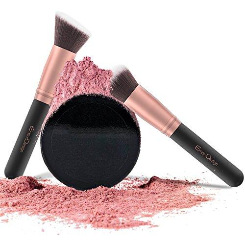 EmaxDesign Makeup Brushes 17 Pieces Premium Synthetic Foundation Brush Powder Blending Blush Concealer Eye Face Liquid Powder Cream Cosmetics Brushes Kit (Rose Gold) by EmaxDesign (Image #3)