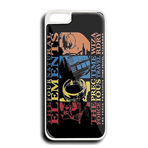 Harry Potter Lord of the Rings doctor who andStar Wars natural elements For iPhone 5/5S white