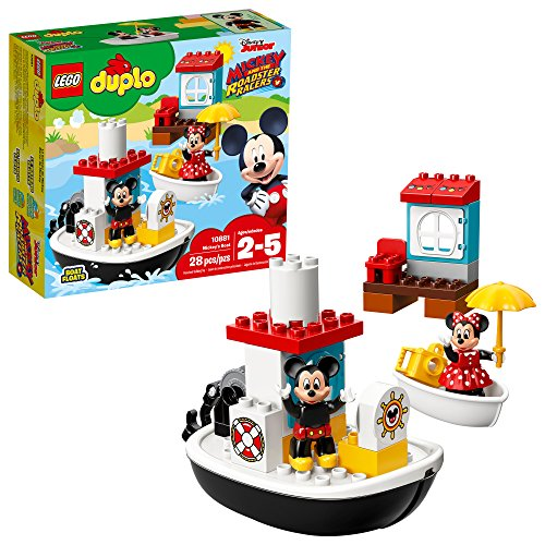 Free Game Lego Racer - LEGO DUPLO Disney Mickey's Boat 10881 Building Kit (28Piece), Multicolor