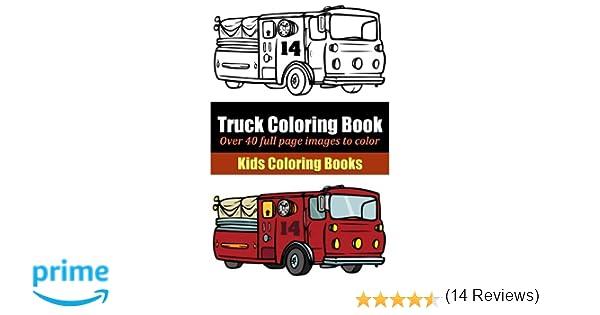 truck coloring book marti jos coloring 9781495405068 amazoncom books - Truck Coloring Book