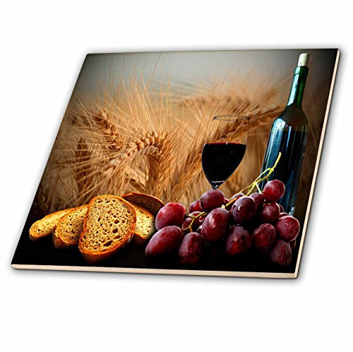 mosaic backsplash kitchen 3drose ct 14294 4 wine bread grapes ceramic tile 12 14294