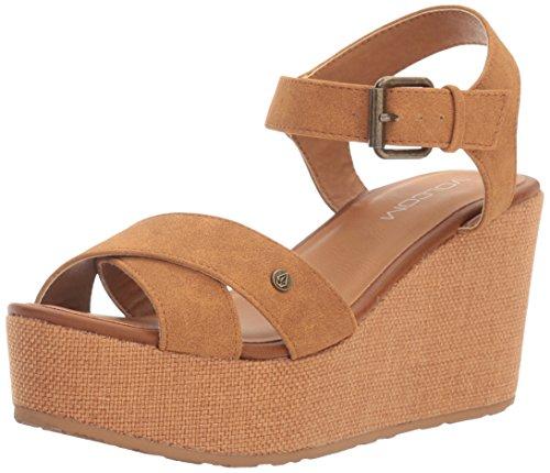 Womens Platform Sandal Stone Stone Womens Volcom Cognac Platform Womens Sandal wnHdwAqB