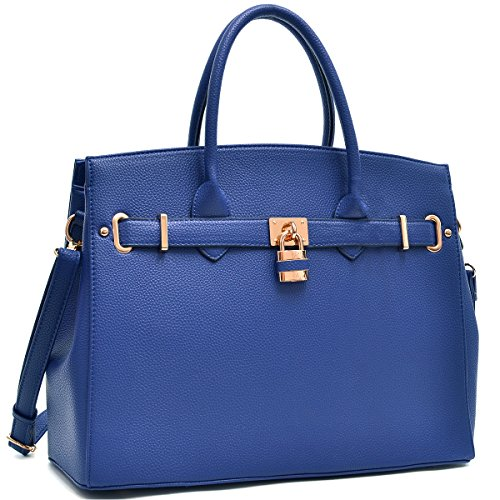 Women Fashion Purses and Handbags Large Tote Bag Shoulder Bag Top Handle Satchel Purse Hobo for Ladies (01 Without Wallet- Navy)