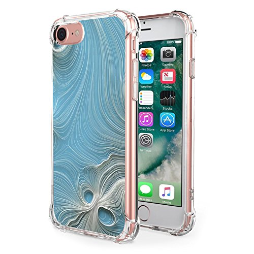 Price comparison product image Beryerbi iPhone 7/iPhone 8 Case Soft TPU Slim Air Cushion Technology Protective Cover For Apple 7/8 Marble Pattern (4, iPhone 7/8)