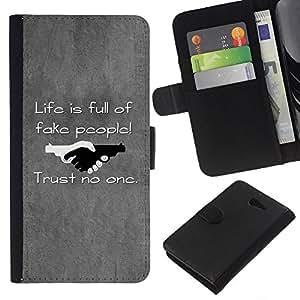 All Phone Most Case / Oferta Especial Cáscara Funda de cuero Monedero Cubierta de proteccion Caso / Wallet Case for Sony Xperia M2 // Black & White Optical Heart