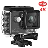 4K WiFi Action Camera SJCAM SJ5000X Elite Waterproof Underwater Camera- 4k@24FPS 12MP/Gyro Stabilization/2.0 LCD Screen (Waterproof Case & Accessories Included)- Black
