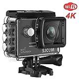 4K WiFi Action Camera SJCAM SJ5000X Elite Waterproof Underwater Camera- 4k@24FPS 12MP/Gyro Stabilization/2.0 LCD Screen (Waterproof Case & Accessories Included)- Black
