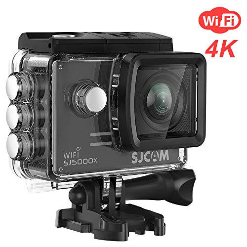 SJCAM SJ5000X Elite 4K WiFi Action Camera Waterproof Underwater Sports Camera- 4k@24FPS 12MP/Gyro Stabilization/2.0 LCD Screen (Waterproof Case & Accessories Included)- Black from SJCAM