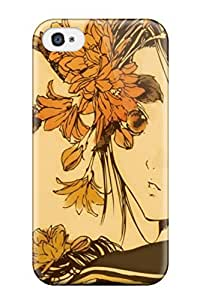 Unique Design Iphone 4/4s Durable Tpu Case Cover Anime Autumn Melancholy