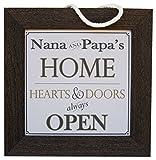Cheap The Grandparent Gift Co. Nana & Papa 10.5 x 10.5-Inch Barn Wood Home Sign