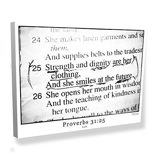 Proverbs 31:25 Bible Verse Canvas Art