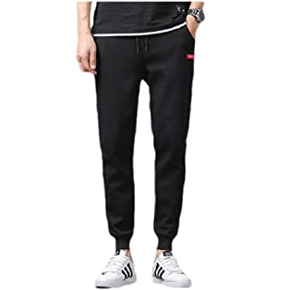 Etecredpow Mens Sweatpants Elastic Waist Contrast Colors Jogging Pants