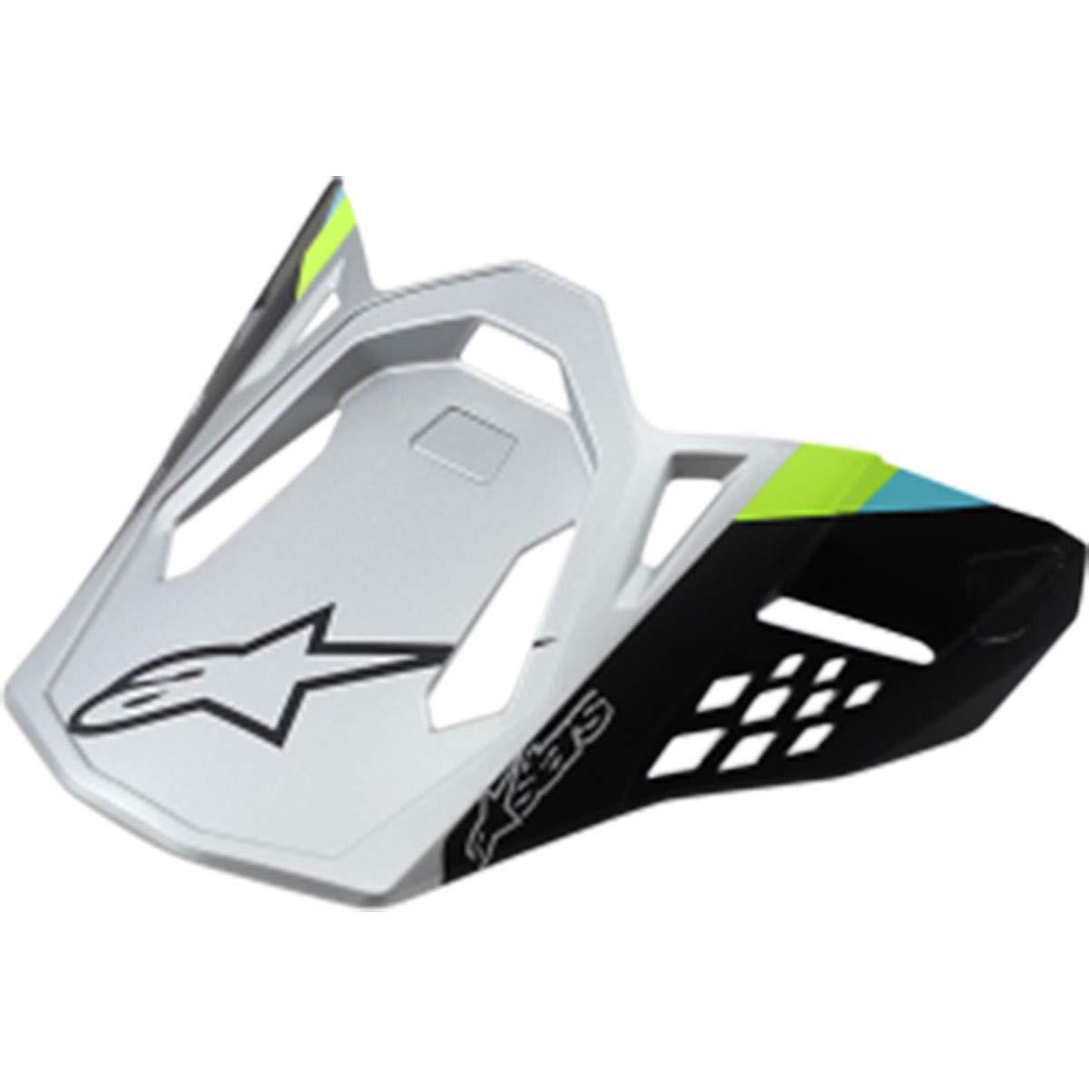 Alpinestars Supertech M8 Contact Visor Off-Road Motorcycle Helmet Accessories - Matte Silver/One Size