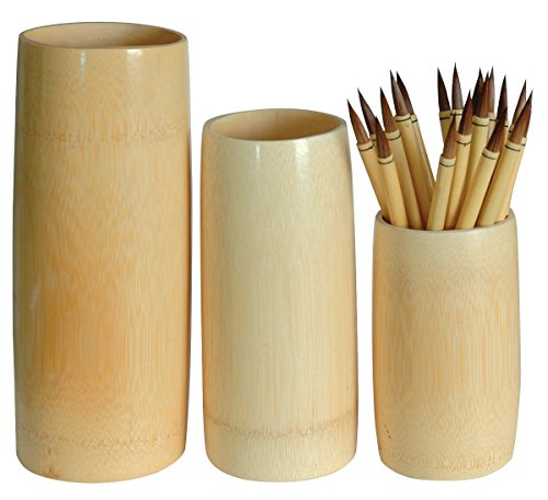 Darice Bamboo Brush Vase- Small (6 Inch Tall)