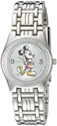 Disney Mickey Mouse Women's W002509 Mickey Mouse Analog Display Analog Quartz Silver Watch