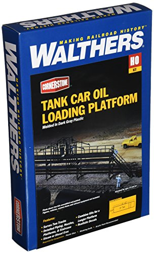 Walthers Cornerstone Series Kit HO Scale Oil Loading (Loading Platform Kit)