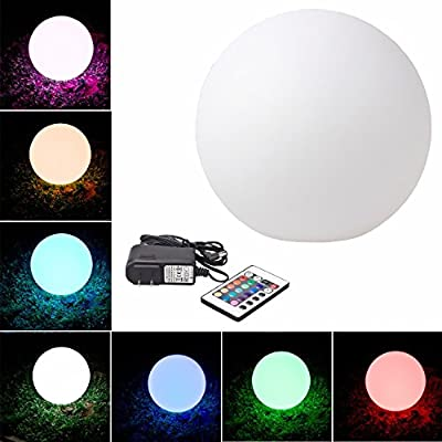 LED Light Up Glow Decoration Illuminated Ball Sphere Indoor/ Outdoor Mixing Color Changing Furniture with Remote Control Mood Lamp Night Light - Cordless, Waterproof, Rechargeable - Indoor/outdoor Use – Eco Friendly, Safe Green Product, Perfect for Home D