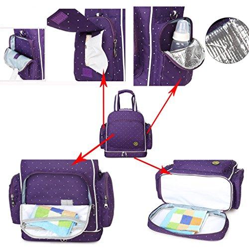 YuHan bebé pañales bolsa viajes mochila bolsa de hombro impermeable bolso para carrito naranja naranja rosso