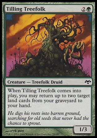 TILLING TREEFOLK Eventide MTG Green Creature — Treefolk Druid Com