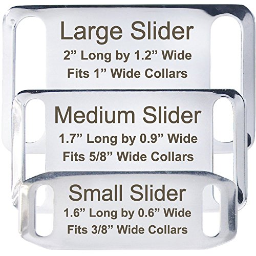 Slide-On Pet ID Tags - Strong And Durable Stainless Steel