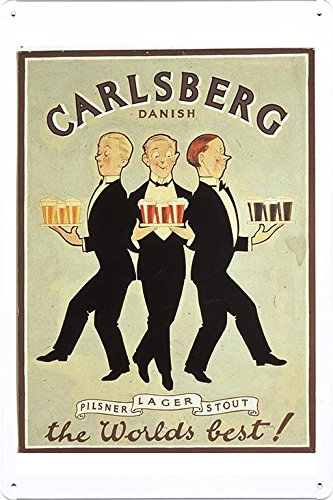 tin-sign-metal-poster-plate-8x12-of-carlsberg-beer-danish-1920-by-food-beverage-decor-sign