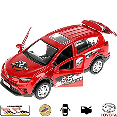 Diecast Metal Model Car Toyota RAV4 Sport Toy Die-cast Cars: Toys & Games