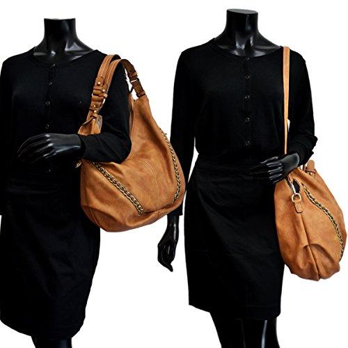 Purses Bag Designer DASEIN Vintage 6332 Tote Washed Hobo Women Casual Handbags Shoulder Fushcia Soft UWzUpPqf