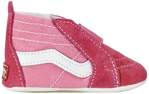 Vans I SK8-HI CRIB - Zapatos infantiles para bebés Rosa, Color blanco