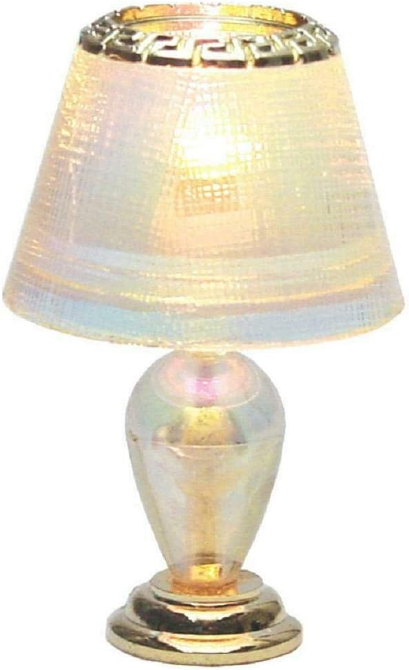 Houseworks, Ltd. Dollhouse Miniature Iridescent Teardrop Table Lamp