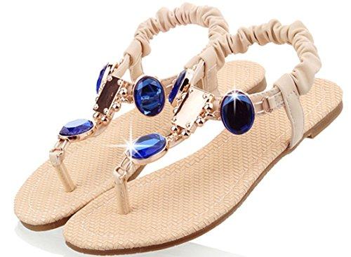 Laruise Women's Flat Sandal Beige yLNmvbh