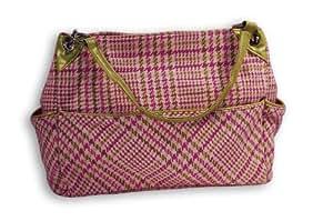 Caught Ya Lookin' Chic Diaper Bag, Pink Plaid