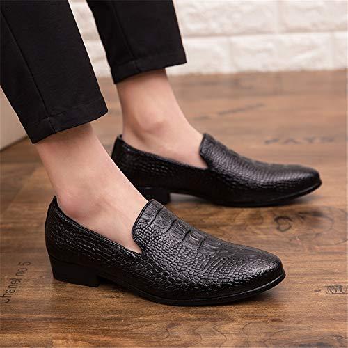 Slip Leather Para on Mocasines Comfort Microfiber Hombres Formal Negro Oxfords Shoes qBSAqxE4Cw