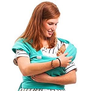 Mika's Baby Sling Carrier For Infant, Toddler Baby Wrap, The Best Solution Against Babies Colic And Gases. Video Instructions - At The Bottom Of The Page.