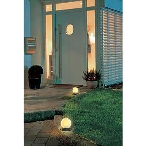 Luz esférica para exteriores, color blanco