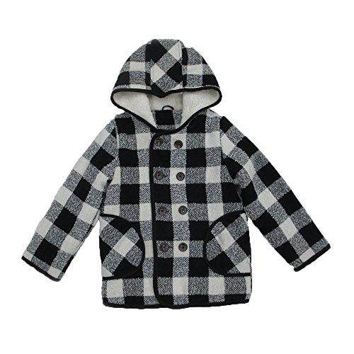 - BASADINA Boys Plaid Hooded Jacket – Long-Sleeve Plaid Hooded for Boys Lattice Hooded Jacket Including Worsted