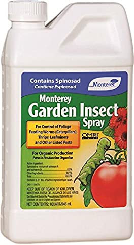 Monterey Garden Insect Spray with Spinosad Concentrate 32oz (Moths Spray)